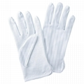 Carbon Esd Cleanroom Palm PVC Dotted Non-Slip Gloves 2