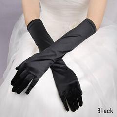象牙白色丁中長款婚禮晚宴新娘手套