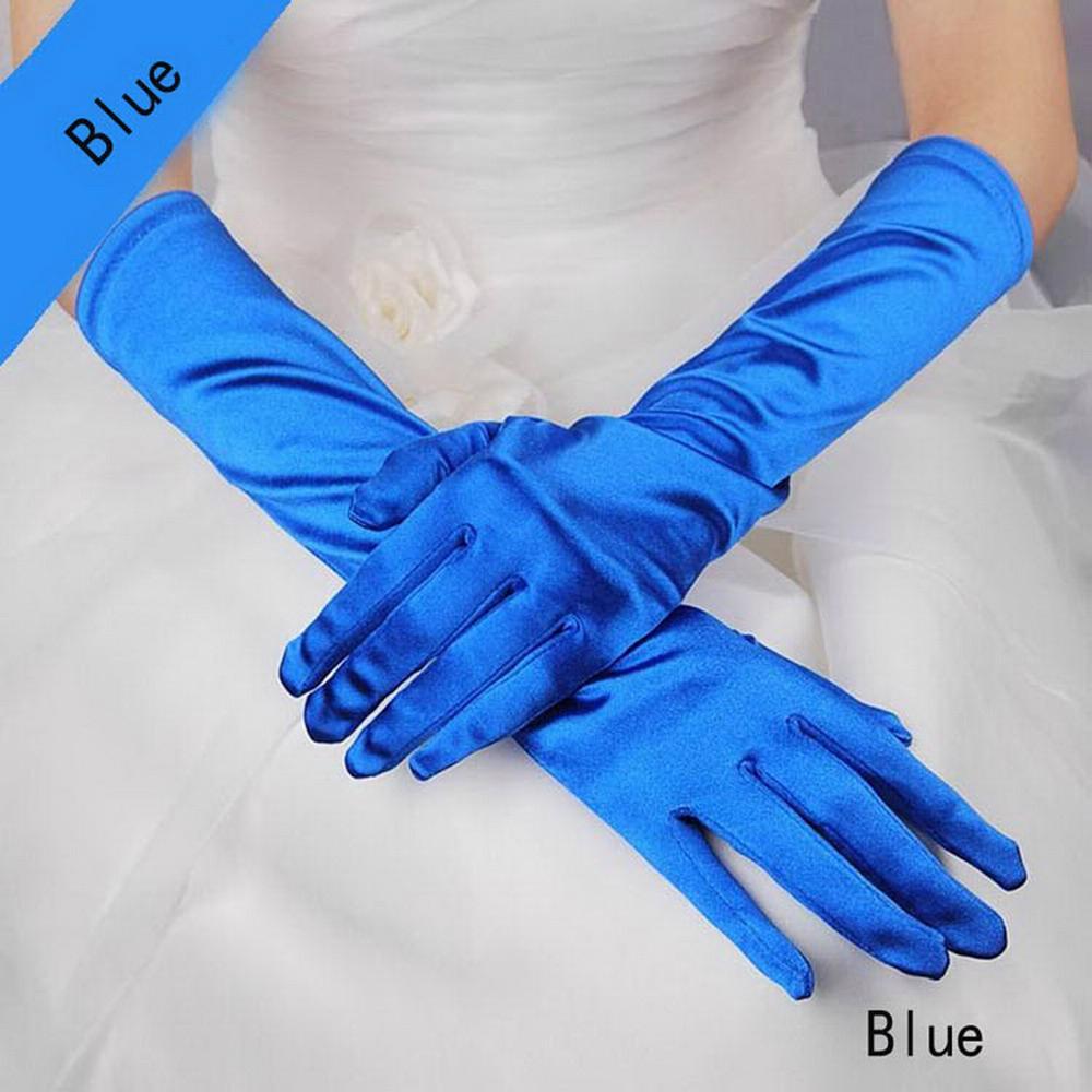 象牙白色丁中長款婚禮晚宴新娘手套 4