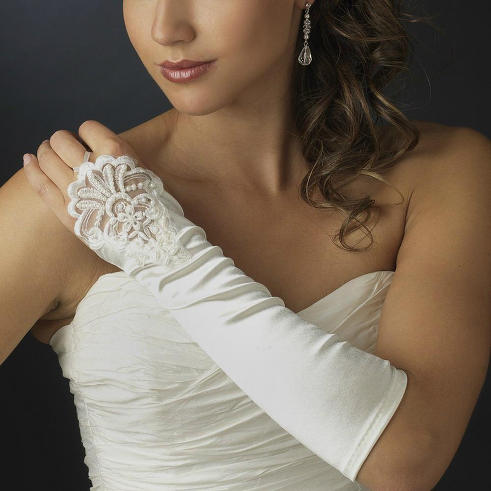 長款緞子婚禮晚宴新娘伴娘手套 2