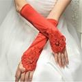 長款緞子婚禮晚宴新娘伴娘手套 4