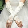 長款緞子婚禮晚宴新娘伴娘手套 5