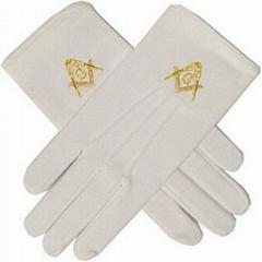 全棉精梳繡花儀仗隊手套