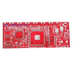 Six-layer red oil PCB board