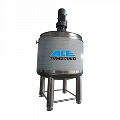 liquid mixing tank with agitator chemical blending tank agitator tank jacketed m