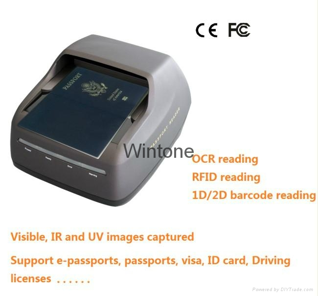 OCR Passport Reader ID card scanner - PSPR 1000(I) - Wintone (China
