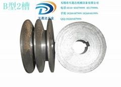 铸铁皮带轮 三角皮带轮B型2槽直径200MM