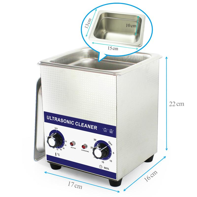 Mini commercial mechanical Ultrasonic Cleaner for Jewellery cleaning 4