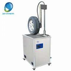 Auto parts Tyre ultrasonic cleaning equipment with lift
