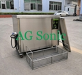 Fuel oil filters ultrasonic cleaning system to remove dust and carbon
