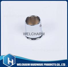 批发优质喇叭型法兰管连接件 淋浴房配件玻璃拉杆撑杆头HCHP-021