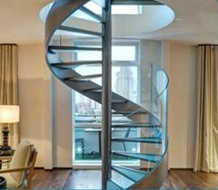 室内、室外不锈钢玻璃旋转楼梯,YD-GBX21