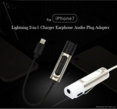 Lightning 2-in-1 Charge Earphone Audio Plug Adapter for iPhone 7 & iPhone 7 Plus