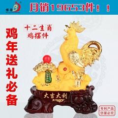 新年禮品雞擺件工藝品