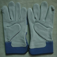 safety leather mechanic working gloves / cut resistant gloves