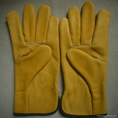 cow grain leather car driving gloves skin safety and protection products