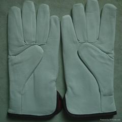 AB grade sheep full-grain leather driving gloves drivers gloves with full linnin