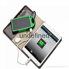 2016 Solar Power Bank 5000mAh Waterproof Powerbank Cargador Portable Solar Charg