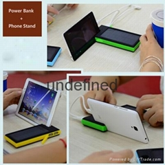 Outdoor waterproof solar mobile power bank charger 12000mAh