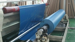 Blue PVC knife cloth car