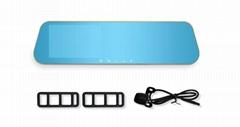 5 Inch  Dual Lens Full HD 1080P Wifi GPS Navigation Rearview Mirror Car Camera