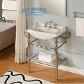 High Quality Bathroom Vanity: High Quality Metal Vanity Set With Steel Legs