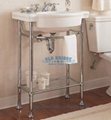 High Quality Metal Vanity Set With Steel Legs Old Bridge China Manufacturer Countertop