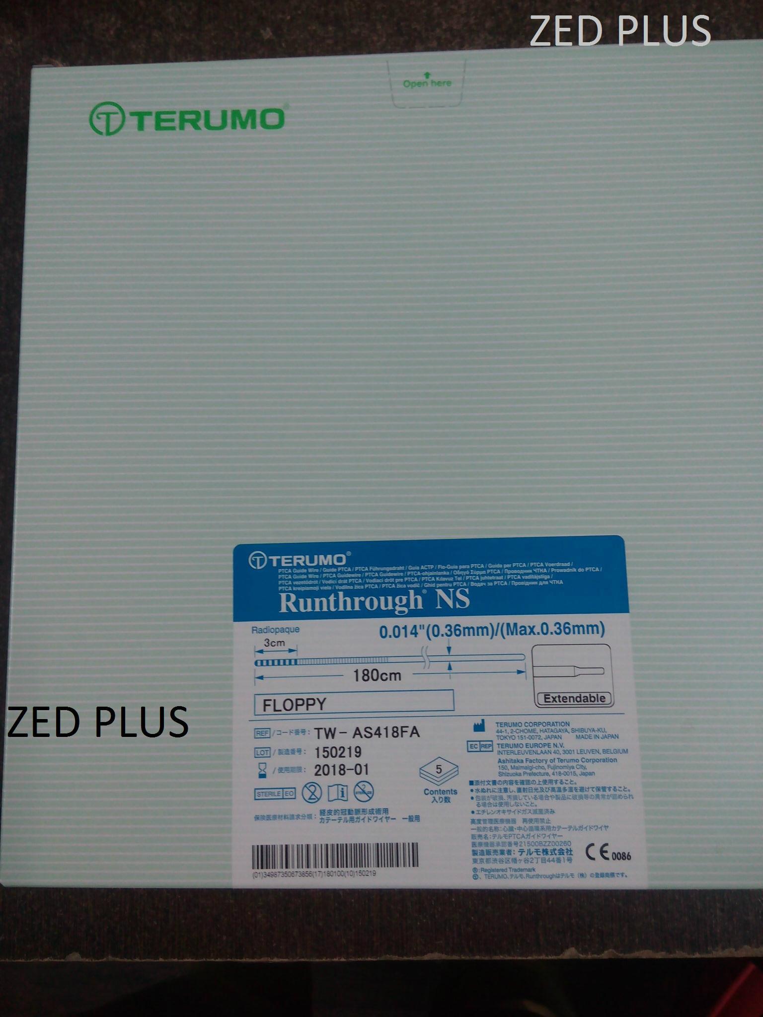 Terumo Runthrough NS Coronary Hydrophilic Guide Wires (India ...