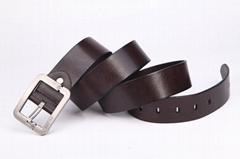 zk015 men leather belt