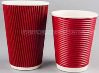 Disposable ripple wall wall paper cup 1