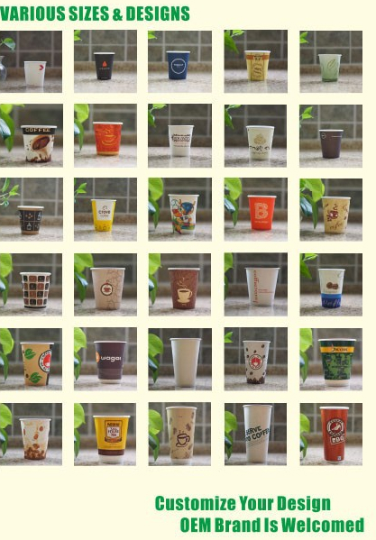 3-24oz Low moq double wall wall paper cup for coffee 4