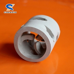 Liquid and Gas Freely Pass Ceramic Pall Ring Tower Packing