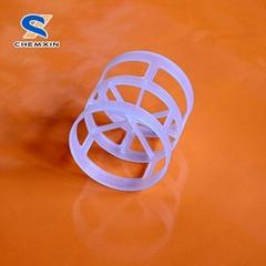 PP, PE, PVC, CPVC, PVDF Plastic pall ring for plastic random packings