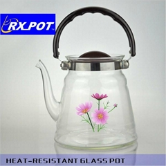 Hot selling transparent borosilicate glass coffee pot