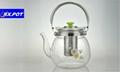 Heatproof glass Teapot and cup set,make