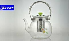 Heatproof glass Teapot and cup set,make tea