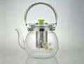 Heatproof glass Teapot and cup set,make tea 2