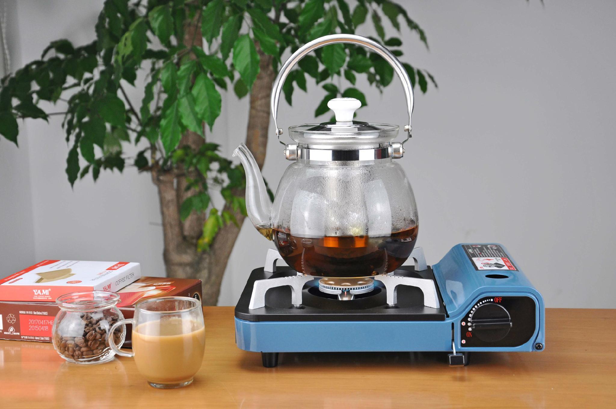Heatproof glass Teapot and cup set,make tea 3