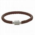 leather/stainless steel bracelet 2