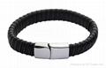 leather/stainless steel bracelet
