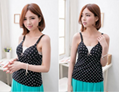Maternity Tops Nursing Tank Top Seamless Solid Camisole Wrinkle Shelf Nursing Br 2
