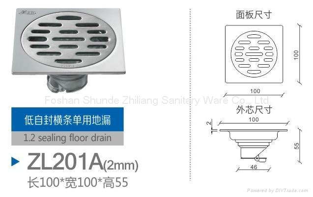 stainless steel floor drain/ shower drain strainer  2