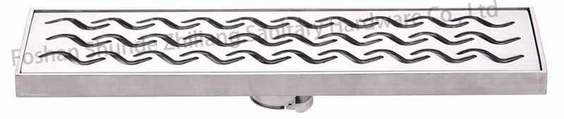 Stainless steel showerLinear Floor Drain Long Strainer  1
