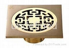 brass floor trap