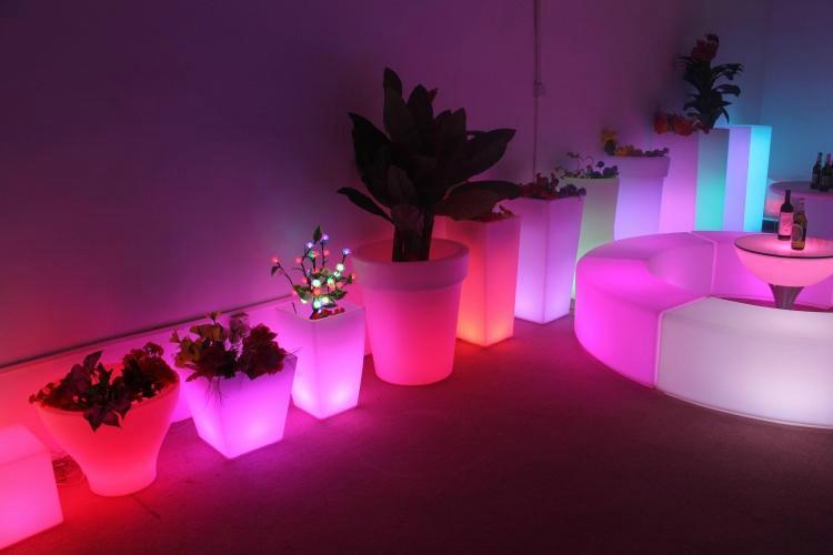 LED Bonsai Pot Light Up Led Flower Pot Decoration Outdoor Colorful Plastic Led L 2