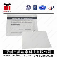 Thermal printer clenaing card