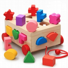 Shape Sorter Box with wooden cubes