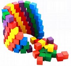Plain Wooden Cubes (100 pcs)