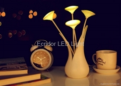 Beautiful LED night light super bright high quality USB flower led lamp