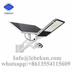 New design remote control waterproof 10w 20w solar street light with cctv camera